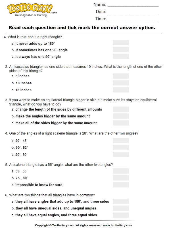 customary length worksheets
