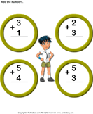 Add 1-digit numbers 4