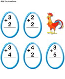 Add 1-digit numbers 5