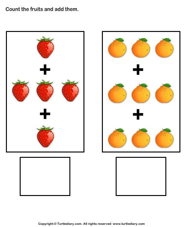 Addition with fruits