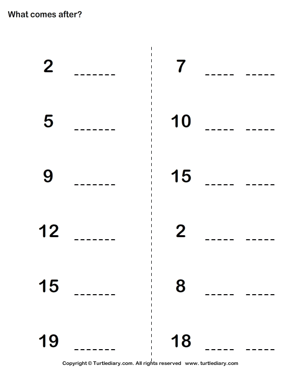 Counting up