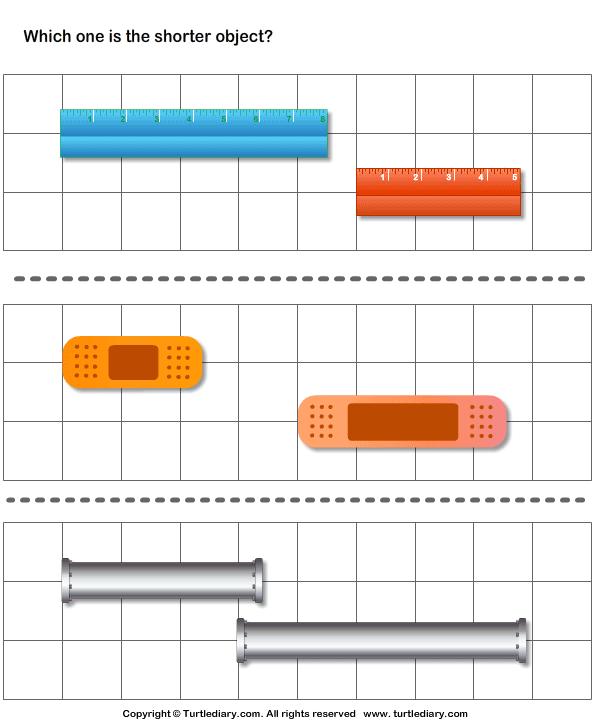 Long Short Worksheets For Kindergarten