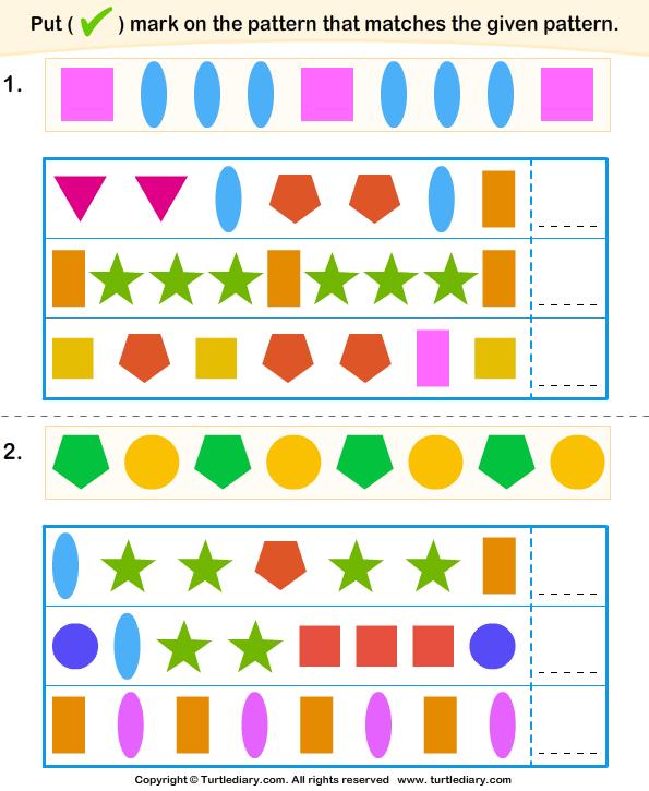Similar pattern - TurtleDiary.com