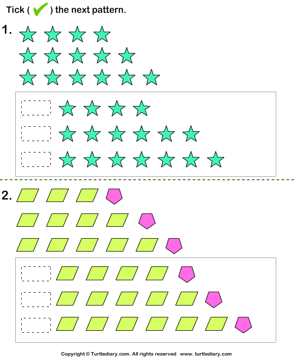 Growing patterns in math