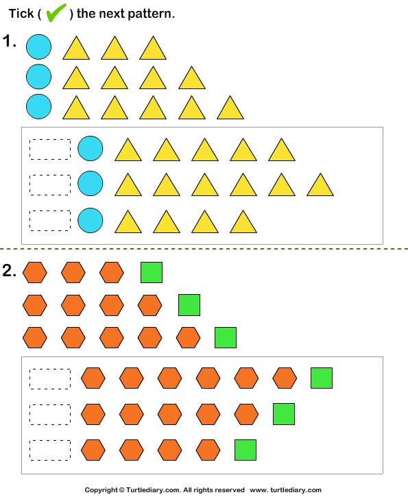 Growing pattern - TurtleDiary.com