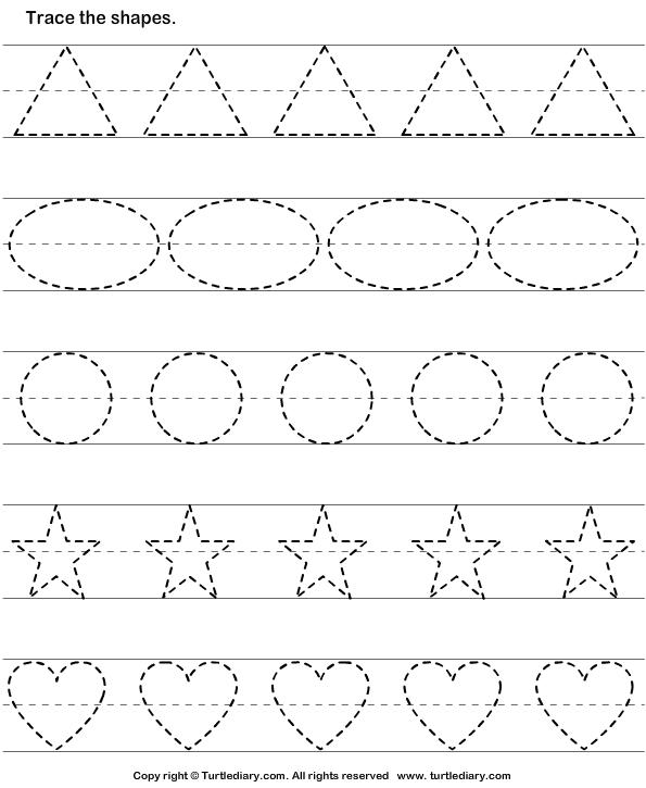 Kindergarten Worksheets Shapes - 4 best images of free printable ...