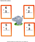 Subtract 1-digit numbers 1