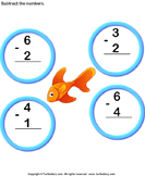 Subtract 1-digit numbers 2