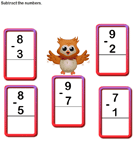 Subtract 1-digit numbers 6