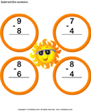 Subtract 1-digit numbers 7