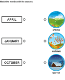 Match the months with the seasons 3