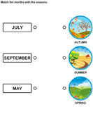 Match the months with the seasons 4