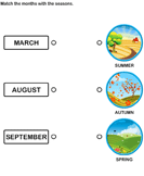 Match the months with the seasons 5