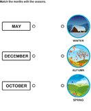 Match the months with the seasons 6