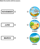 Match the months with the seasons 9