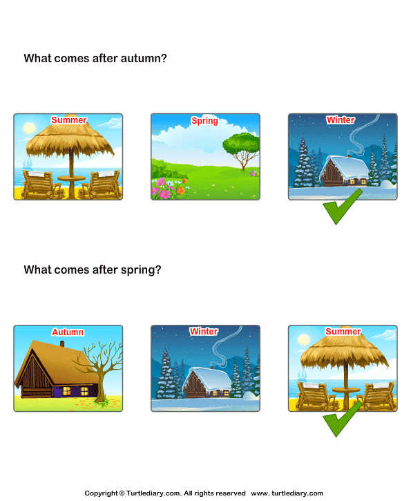 Sequence of the seasons Answer