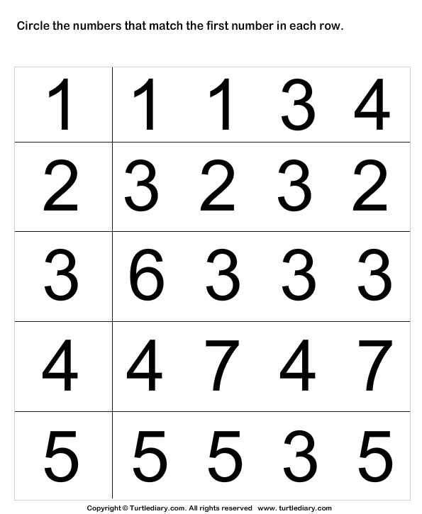 Identify numbers