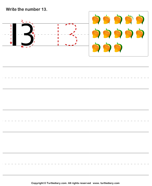 Number writing - TurtleDiary.com