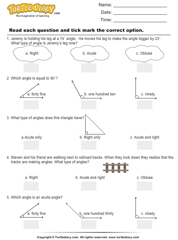 Angles : Multiple Choice Questions