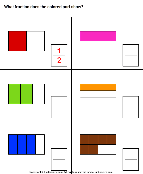 Number Names Worksheets fraction shading worksheets Free – Fraction Shading Worksheets