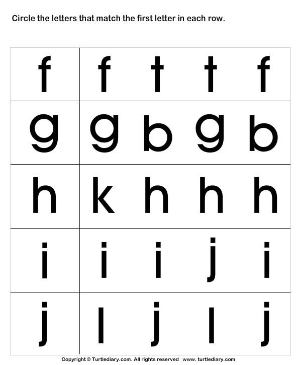 Recognize Letters in Lower Case