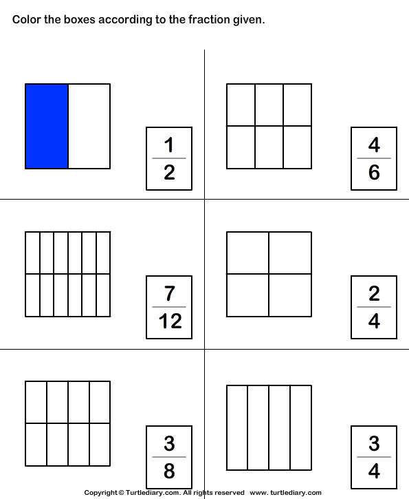 Coloring Fractions Worksheet free worksheets coloring fractions – Coloring Fractions Worksheet