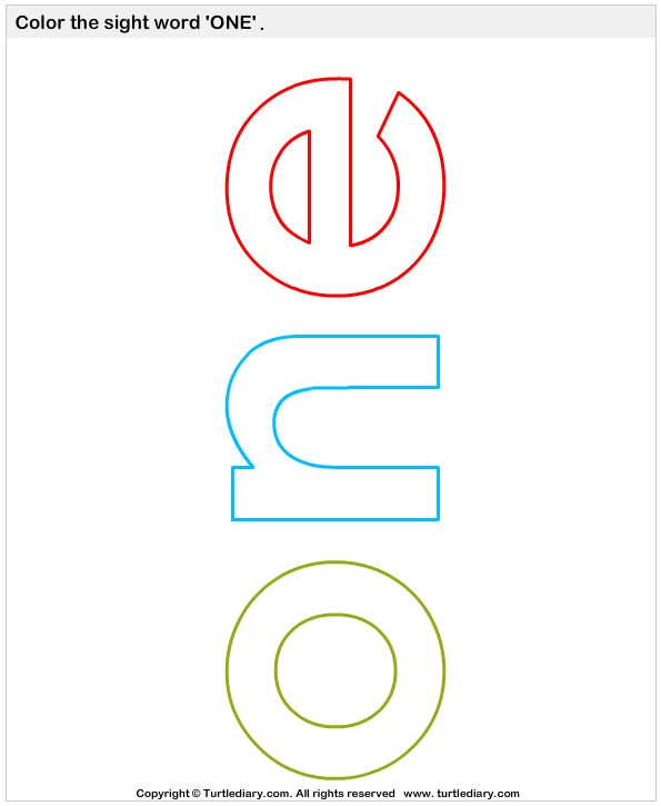 Color the Sight Words