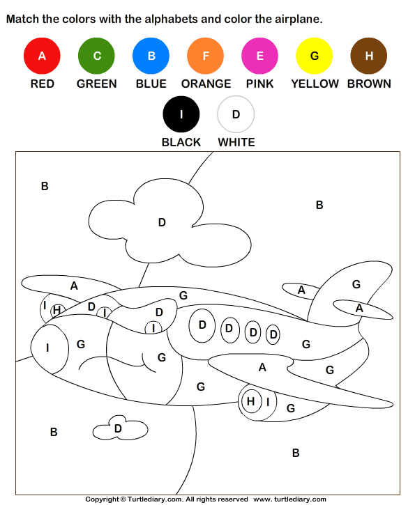 Coloring Letters Worksheet - Turtle Diary