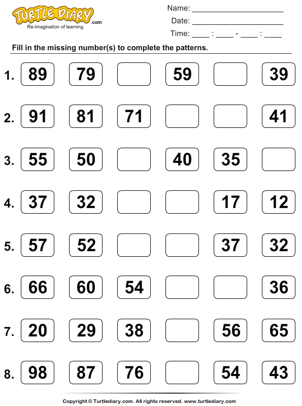 Number Names Worksheets skip counting by 5 worksheets Free – Math Skip Counting Worksheets