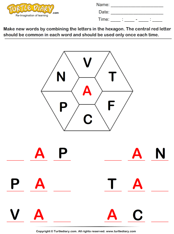 make a word with letters complete the word with letters v t f c p n worksheet 23550 | complete the word with letters v t f c p n