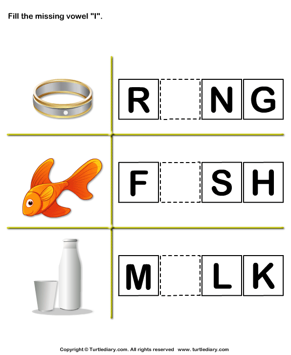 Fill in the Missing Vowel