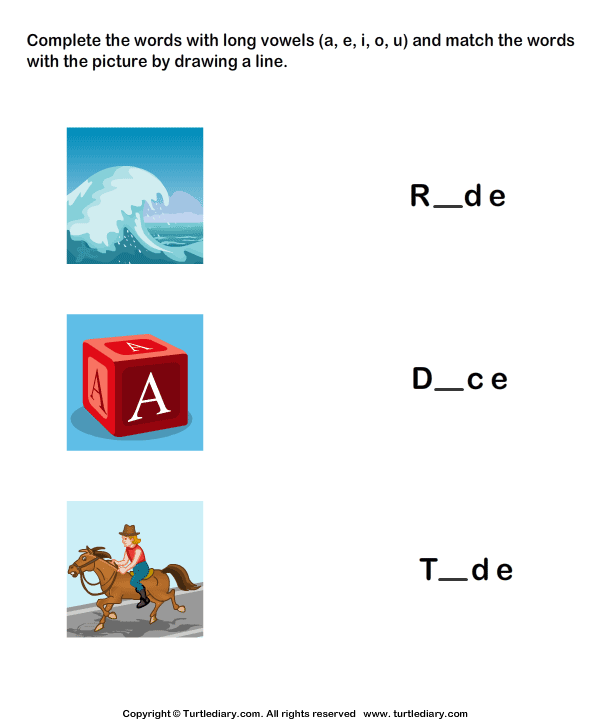 Complete the Words Using Long Vowel