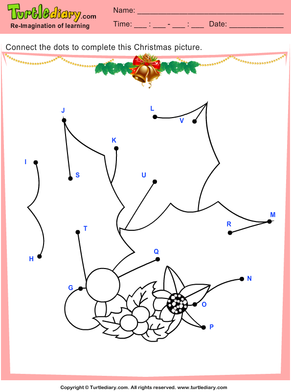 Christmas Connect the Dots by Alphabet