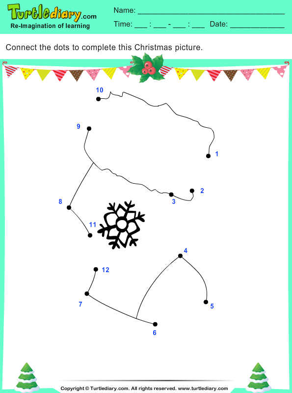 Christmas Connect the Dots by Number