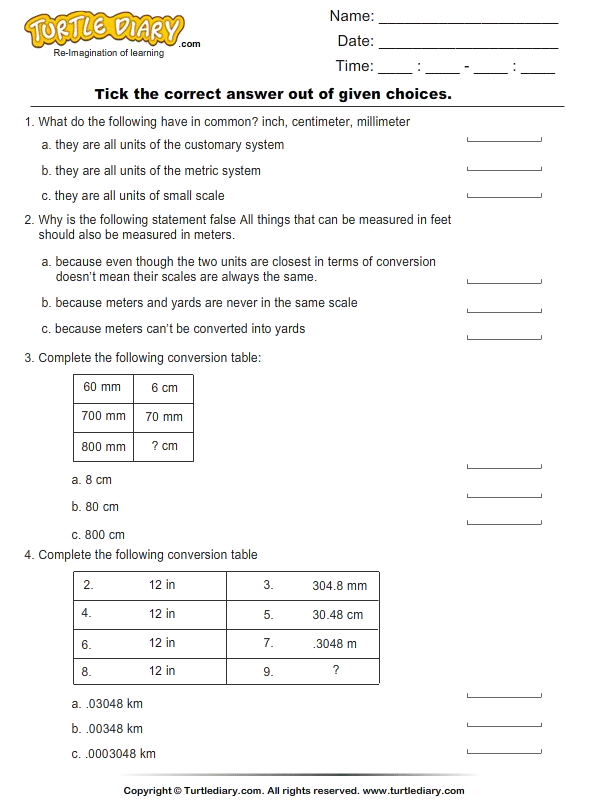 Unit Conversion: Customary to Metric and Metric to Customary