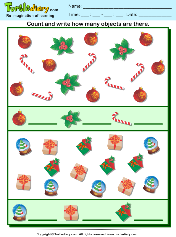 Count How Many Candy Cane Are There Worksheet - Turtle Diary-9432