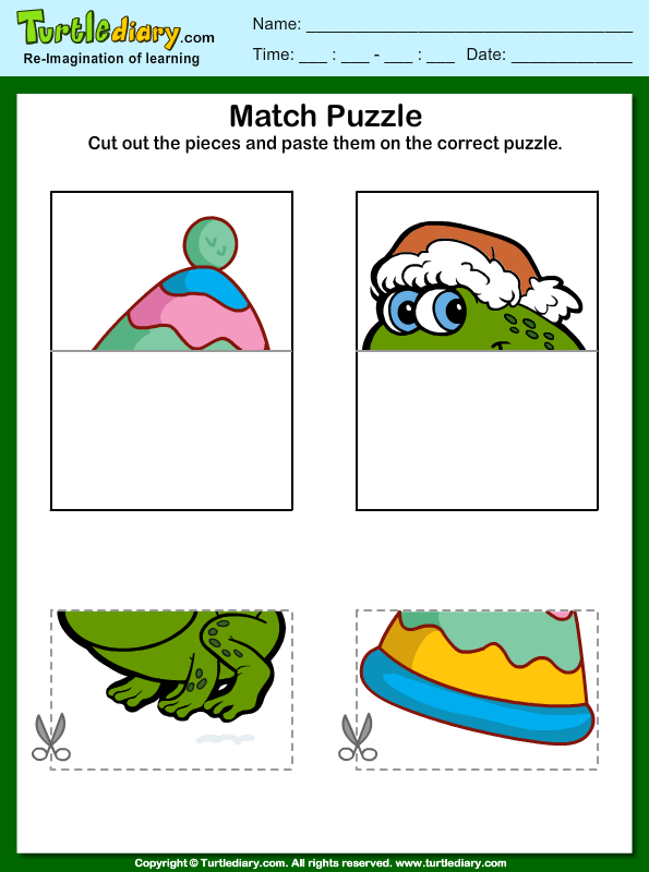 Cut and Paste Picture Puzzle Worksheet Turtle Diary – Puzzle Worksheets