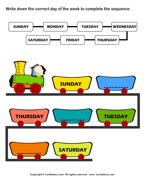 It is an image of Agile Free Printable Days of the Week Worksheets
