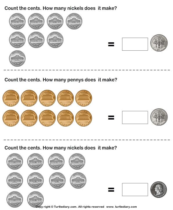 Free Worksheets coins worksheet : Different Number of Coins having Same Value Worksheet ...