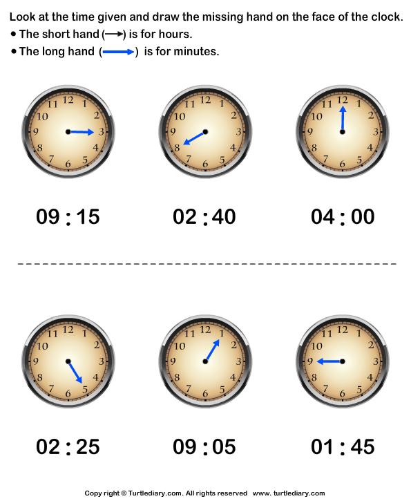 Draw Hour Hand of Clock