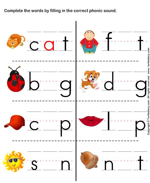 Printables Free Phonics Worksheets free phonics worksheets kindergarten scalien