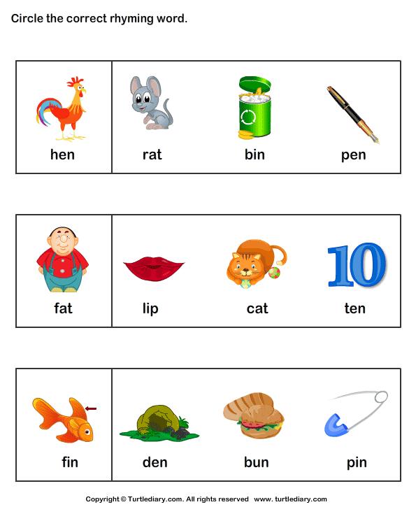 Identify Words That Rhyme