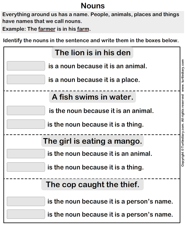 common proper noun worksheet