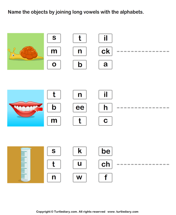 identify-pictures-by-joining-long-vowels-with-alphabets Vowel Worksheets For First Grade Free on free first grade noun worksheets, free first grade pattern worksheets, free first grade sentence worksheets, free first grade blends worksheets, free first grade subtraction worksheets, free first grade handwriting worksheets, free first grade preposition worksheets, free first grade animal worksheets, free first grade adjective worksheets, free first grade spelling worksheets,