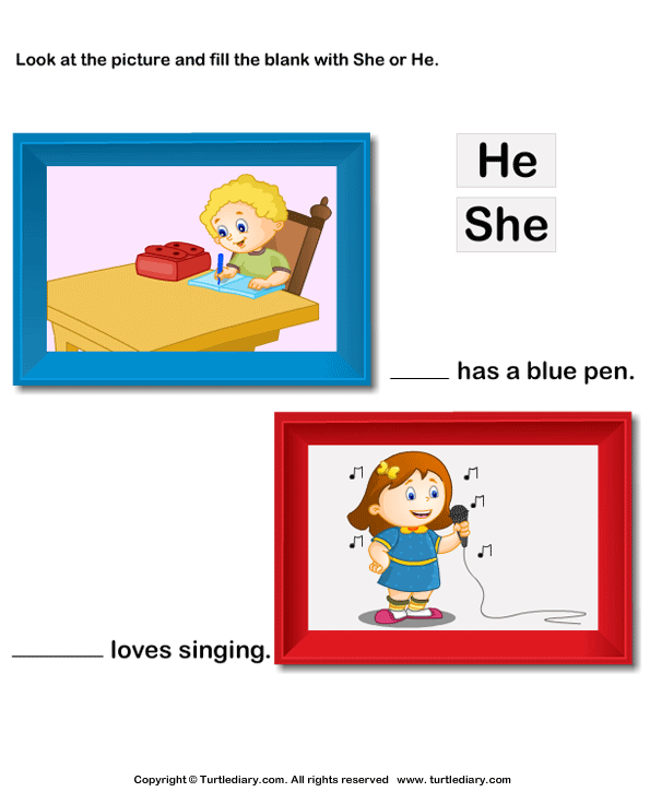 Using 'she' or 'he'