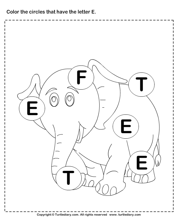 identifying letter e worksheet turtle diary. Black Bedroom Furniture Sets. Home Design Ideas