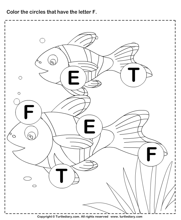 identifying letter f worksheet turtle diary. Black Bedroom Furniture Sets. Home Design Ideas