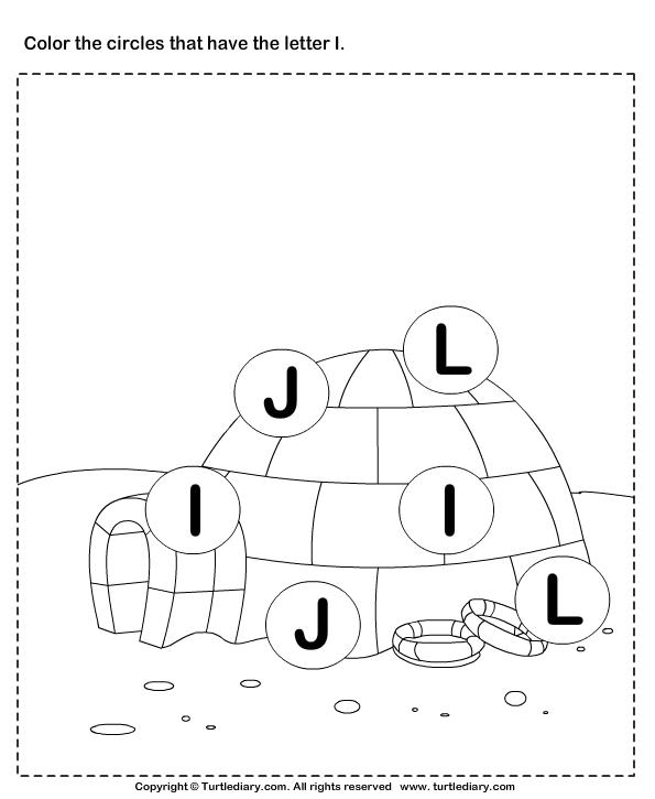 Identifying Letter I Worksheet Turtle Diary – Letter I Worksheets