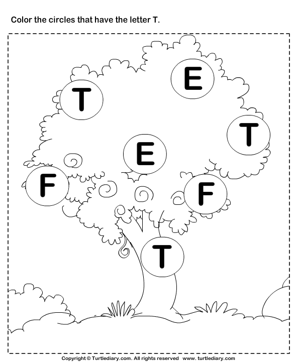 Identifying Letter T Worksheet Turtle Diary – Letter T Worksheets