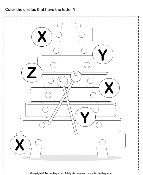Identifying Letter X Worksheet - Turtle Diary